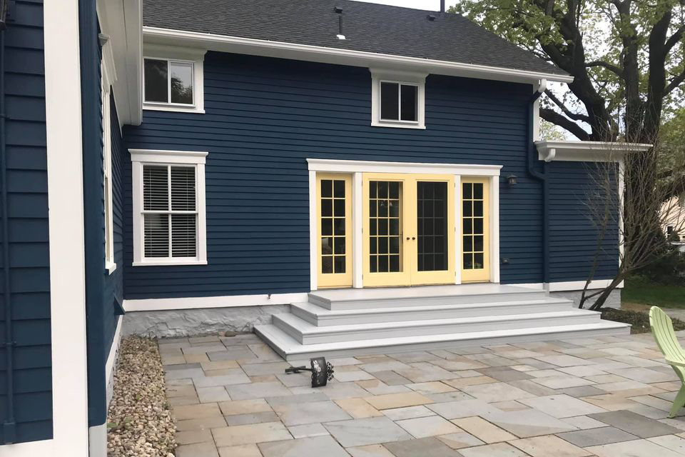 House with newly painted siding